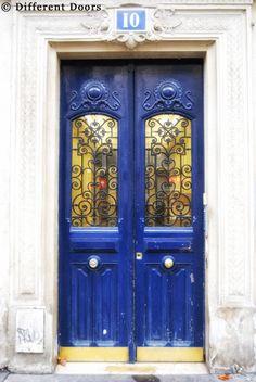 A door on Boulevard Saint Michel, Paris