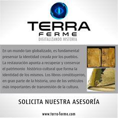 [ ¿Deseas restaurar libros? ] Te ofrecemos el servicio de restauración de invaluables libros, para que sigas preservando la historia. Somos @TerraFerme www.terra-ferme.com