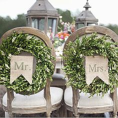 DIY Wedding Decor For the Bride and Groom