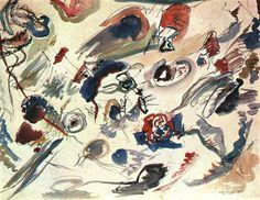 """""""Primera acuarela abstracta"""" - Wassily Kandisnky (1910)"""
