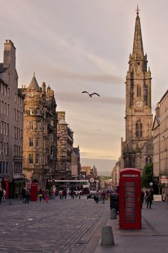 The Royal Mile in Edinburgh, Scotland.
