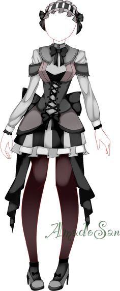 Gothic loli dress outfit adoptable CLOSED by AS-Adoptables.deviantart.com on @DeviantArt