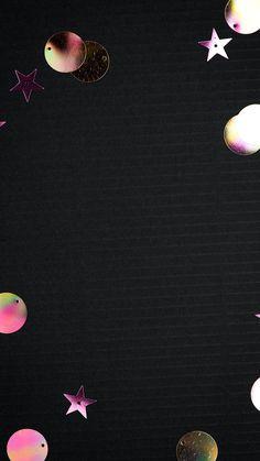 Download free image of Metallic festive glitter black phone wallpaper