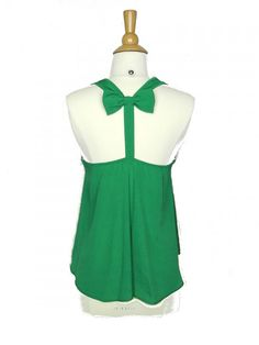 Bow Back Hi Low Tank Top in Green - $24.00 : FashionCupcake, Designer Clothing, Accessories, and Gifts