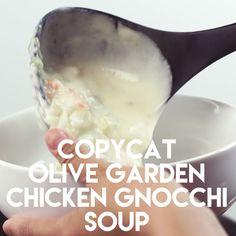 Copycat Olive Garden Chicken & Gnocchi Soup (+ Video) - Dessert Now, Dinner Later! Copycat Olive Garden Chicken & Gnocchi Soup (+ Video) - Dessert Now, Dinner Later! Chicken Gnocchi Soup, Gnocchi Spinach, Spinach Soup, Olive Garden Chicken Gnocci Soup Recipe, Olive Garden Gnocchi Soup, Gnocchi Sauce, Sausage Tortellini Soup, Pasta Soup, Olive Garden Recipes