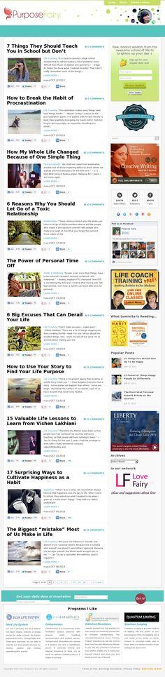 The website 'www.PurposeFairy.com'