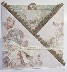 handmade card ... Kaisercraft paper ... kris cross design ... pull the message from the center ...