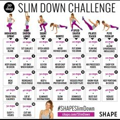 See amazing results in just 30 days with this slim down workout and eating plan.