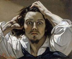 Gustave Courbet, De Wanhopige, 1843-45, olieverf op doek, 45 x 54 cm, particuliere collectie - Biografie Courbet: http://www.artsalonholland.nl/grote-meesters-kunstgeschiedenis/gustave-courbet