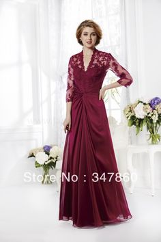 Spring 2016 Madelyn Silky Chiffon Floor length gown three quarter sleeve Length Pleating Teal Elegance Mother of Bride Dresses