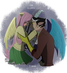 Fluttershy and discord Fluttershy, Discord, My Little Pony Comic, My Little Pony Pictures, Cartoon As Anime, Cartoon Shows, Human Mlp, My Little Pony Wallpaper, Little Poni