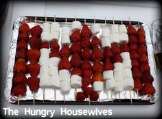The Hungry Housewives Blog: Super cute Canada Day snack but can add blueberries (& different pattern) to use for the 4th :)