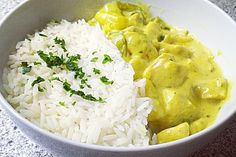 Hähnchen-Ananas-Curry mit Reis (Rezept mit Bild) | Chefkoch.de