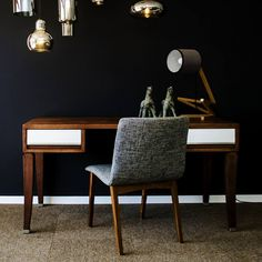 Chalk Paint Colors, Oslo, Painted Furniture, Office Desk, Corner Desk, Victorian, Supreme, Interior Design, Painting