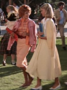 Frenchy & Sandy - Pastels on these gals. Sandy is always soft colors, pastels, full skirts. Ladylike until the end.