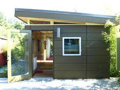 Modern shed pre fab shed kit 12 39 x 16 39 coastal prefab for Prefab in law suite