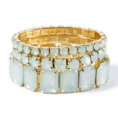 Gem Stack Stretch Bracelets