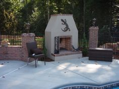 Charlotte Outdoor Fireplace Photos