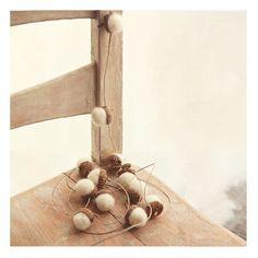 acorn + hemp garland