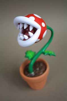 I don't know where this came from but I wonder if I can make some Petey Piranha for the windowsill.
