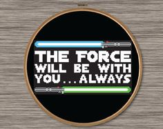 Instant download PDF cross stitch pattern of a Star Wars Quote with Yoda silhouette Do or do not. There is no try. Pattern includes colored grid and DMC color chart. Size: Approximately 8.75 x 5.25 (14 count Aida fabric) 123 cross stitches wide, 73 cross stitches tall 3 colors Original art by Devyn Brewer (DJStitches). For personal use only. Please do not reproduce or sell this item. This pattern/artwork is purely fan-art, is unofficial, and has no connection with the creators of Sta...