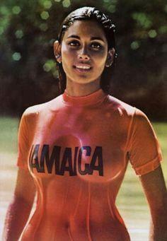 Sintra Bronte in a Jamaican tourist board campaign, 1972