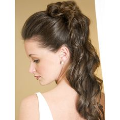 hair styles weddings half up formal style for hair with curls hair 4820