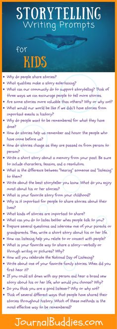 Encourage your students to think about the role of stories in their own lives and the value of storytelling in our world with these new journal prompts.