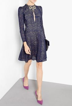 Lace Fit And Flare Dress by Carven