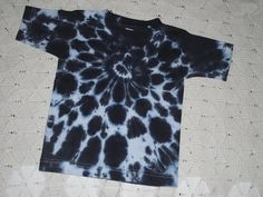 Tie dye shirts in all sizes! This one is especially for little Oakland Raiders and Chicago White Sox fans!  INSTANT HALLOWEEN COSTUME IDEAS: My little sis used this design as a Halloween Costume one year- DALMATION! Ears on a headband or cap, black tights, and a painted face... and youre good to go trick-or-treating! I wore this same shirt design for a COW costume one year, too!  Size: 3 Toddler in stock and ready to ship (all other sizes will be dyed and shipped within a week.) Colors…