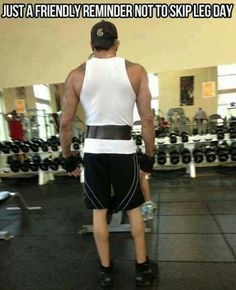 To funny! Dont be like this guy. Dont skip leg day!