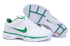 premium selection a9b9e 2af9b zoom vapor 8 club roger federer Bue Cheap Nike tennis 431842 102 White Green  for sale