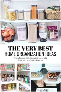 Learn some lifelong organization ideas for the home from Rachel Dickerson - Owner and Lead Organizer of A Beautiful Mess Get to know this talented organizing expert! Organizing Hacks, Home Organization Hacks, Storage Hacks, Organizing Your Home, Best Closet Organization, Office Supply Organization, Kitchen Organization, The Home Edit, Getting Rid Of Clutter