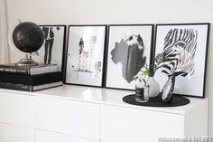 Black and white living room - Adalmina's Secret