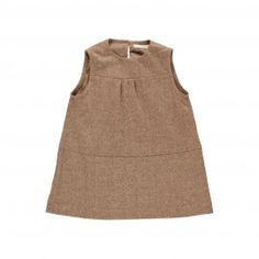Ofelia Dress - Brown Tweed - by Poppy Rose Tweed, Poppies, Kids Outfits, Kids Fashion, Brown, Clothes, Tops, Dresses, Women