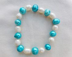Stretch Beaded Bracelet Made Using Clear Glass Beads with