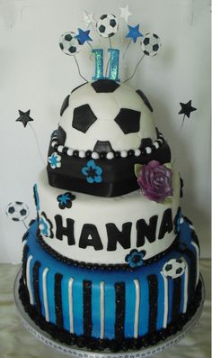 Soccer Girl Birthday Cake  Custom Cakes By Kris cakepins.com