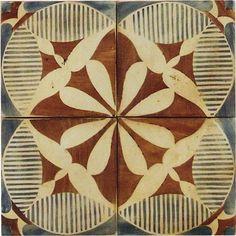 Tabarka - Touareg 1 - Wall And Floor Tile Tile Patterns, Textures Patterns, Print Patterns, Tile Design, Pattern Design, Style Deco, Decoration Inspiration, Mosaic Tiles, Tabarka Tile