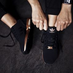 Adidas Women's ZX Flux - Core Black/Copper - need these little beauties in my life ❤️
