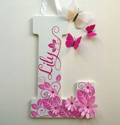 """Jumbo 18"""" Personalized Name Custom Initial Letters for Nursery, Kid's orTeen's room"""