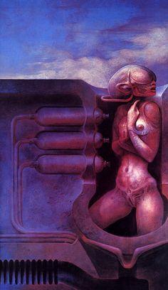 HR Giger's Humanoid, art, illustration