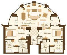 Luxury Hotel Suite Floor Plans | Las Vegas Suite - Bellagio Grand Lakeview Suite Floorplan