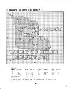 Garfield Cross stitch cat