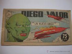 COMIC COMANDANTE ESPACIAL ESPACIO DIEGO VALOR Nº 26 DE LA COLECCION ORIGINAL DEL AÑO 1954. NO COPIA.