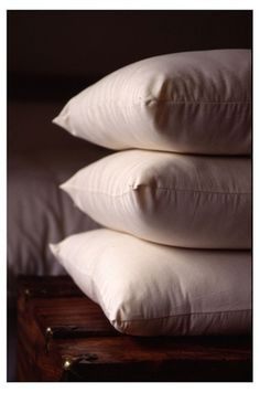 Buckwheat pillows: filled with buckwheat husks. They shift around and conform to the contours of your head and neck, supporting everything and relieving neck pain, TMJ, snoring, etc. May try one if my morning headaches do not stop... $47.99