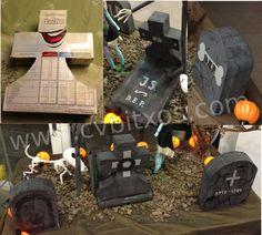 Lápidas de Halloween - Halloween diy Stone Tombs