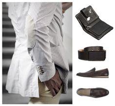Carlo Pazolini Gentlemen's Corner #business #casual #blazer #stripes #black #brown #shoes #belt #wallet #lifestyle #summer