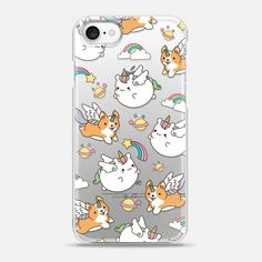 Casetify iPhone 7 Snap Case - Cute Unicorns by Mint Corner