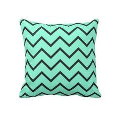 Mint Zigzag Pillows