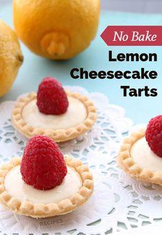 No Bake Lemon Cheesecake Tarts - Recipes with Essential Oils